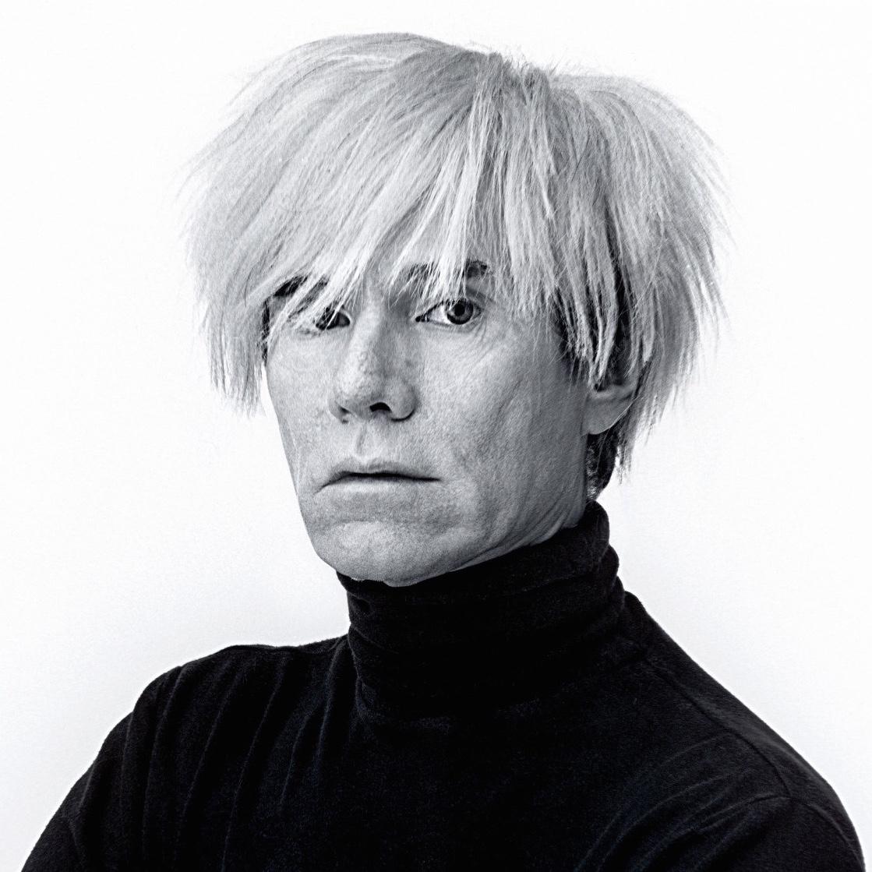 Andy Warhol, artist, portrait, himself, white background