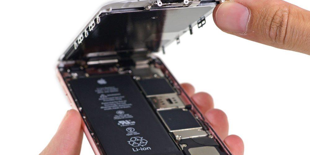 iPhone 6s vypínání baterie