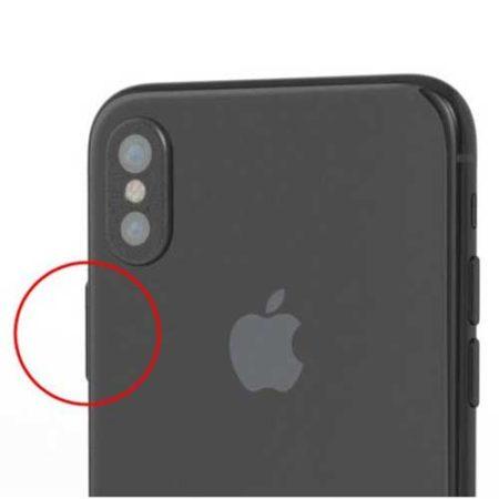 iPhone 8 render vypínací tlačítko