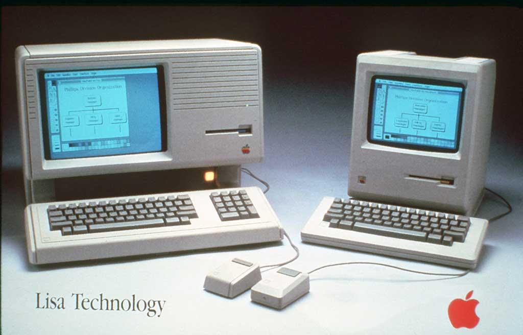 LISA (vlevo) a Macintosh (vpravo)