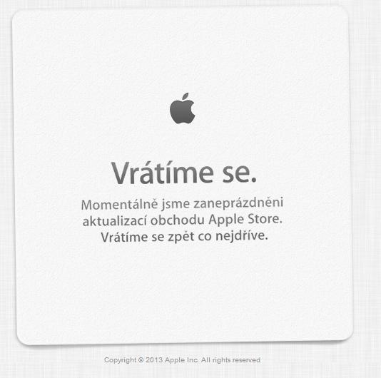 AS - Apple Store je dole