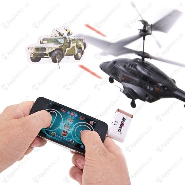 rc helikoptera s vystrelovacimi raketami ovladana pomoci apple iphone ipad ipod seda - Vyhrajte si příslušenství pro Apple
