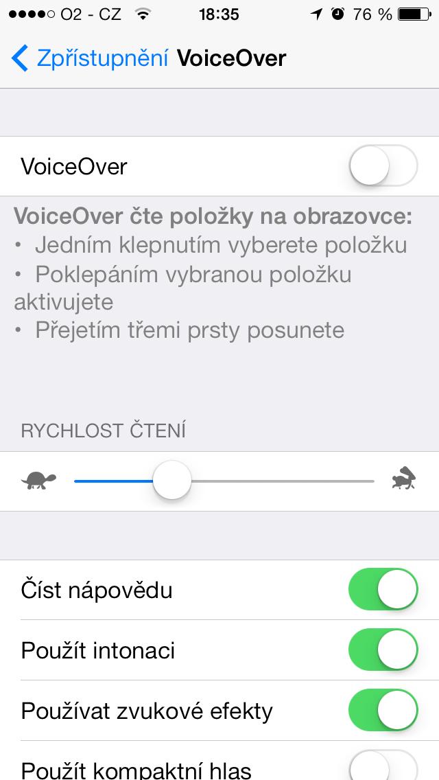 VoiceOver titul iOS - VoiceOver na iOS (příručka)