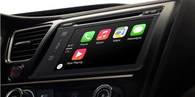 CarPlay - Apple představil CarPlay, iOS integraci do automobilů