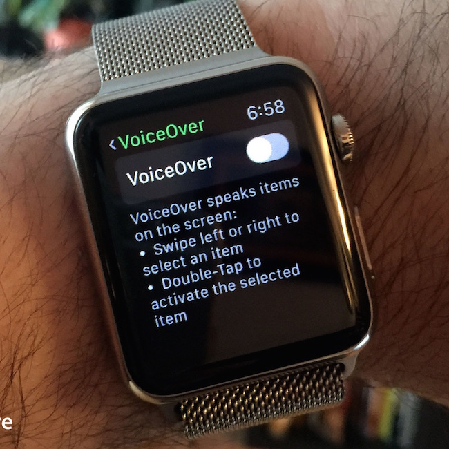 apple watch voice over hero - Futuristické snění o Apple Watch