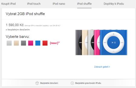 Nové iPody - iPod Shuffle