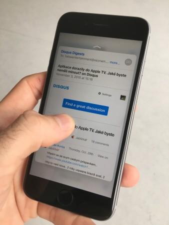 3d touch peek v aplikaci email