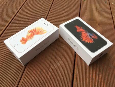 Krabičky iPhone 6s pro vesmírně šedý a růžově zlatý model