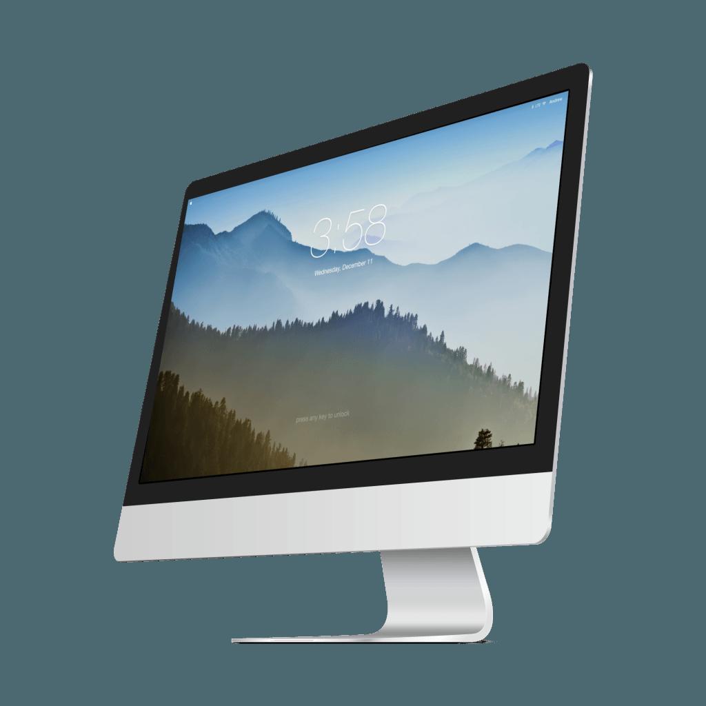 dotykový displej, iMac