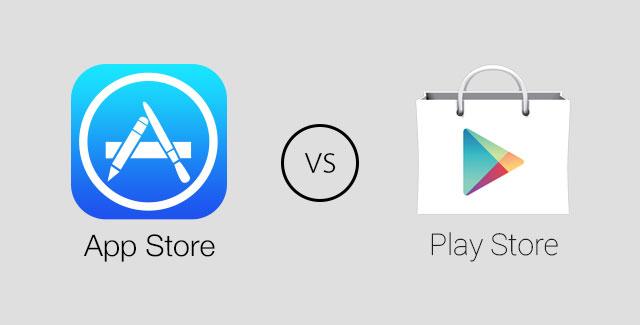 App Store vs. Play Store - svetapple.sk