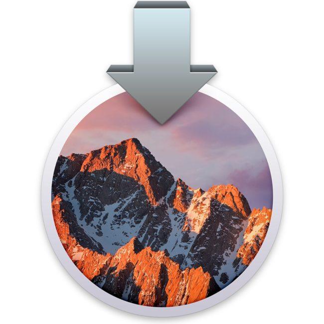 macOS Sierra instalační, dock macOS