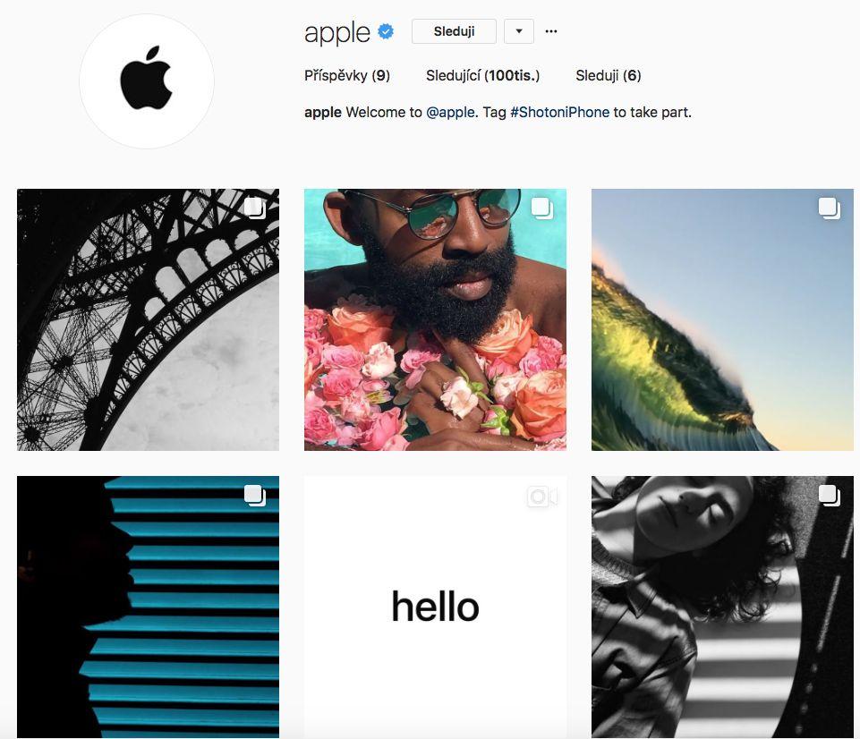 Snímek obrazovky 2017 08 07 v 19.56.39 - Apple se přidal na Instagram. Neváhejte, a sledujte ho!