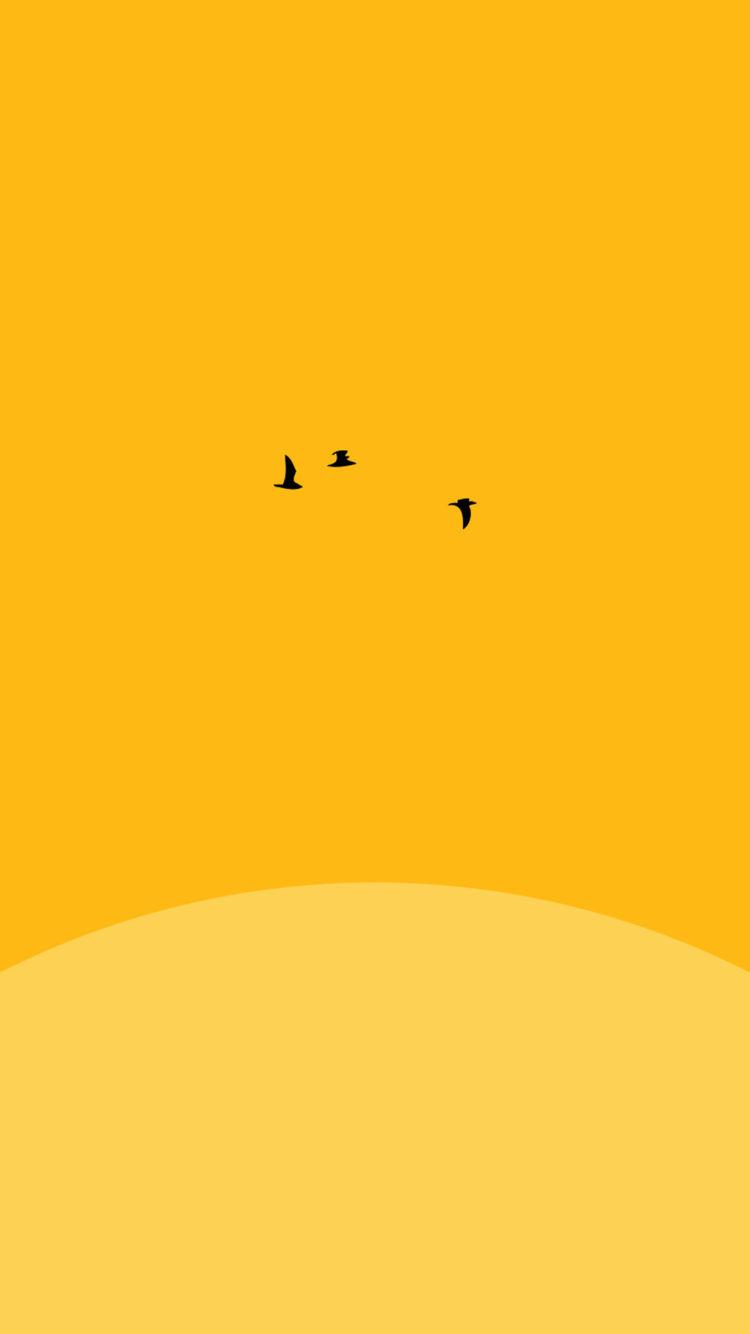 sunset yellow bird minimal iphone 6 plus - Nejlepší tapety pro iPhone #8