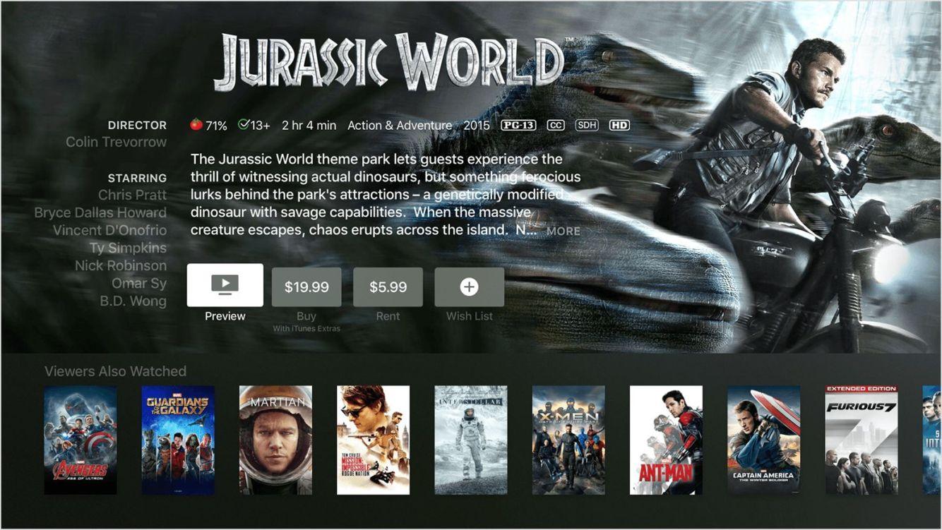iTunes Jurassic World