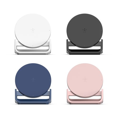 charging stand color - Belkin představil nové modely bezdrátových nabíječek pro rok 2018