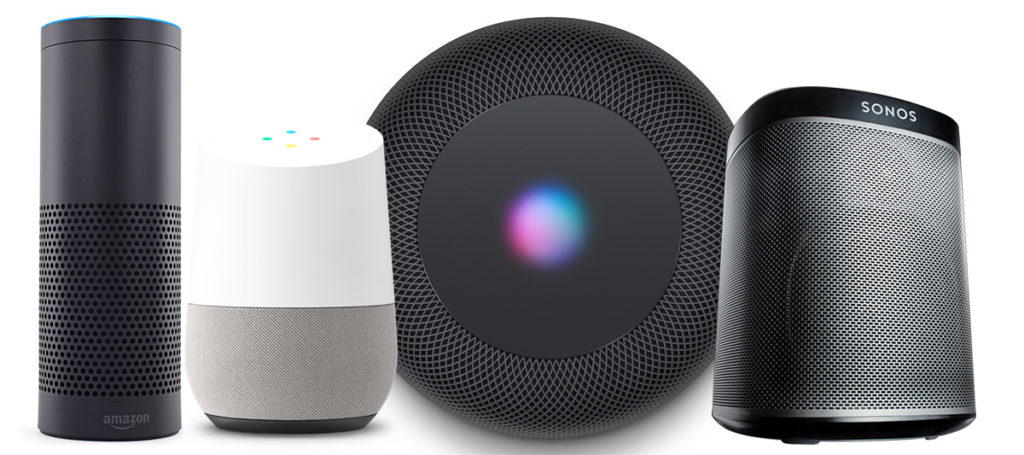 Konkurence HomePodu - Amazon Echo, Google Home a reproduktory Sonos