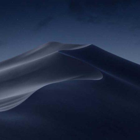 macOS 10.14 Mojave Dark Mode, macOS Mojave, velikost složky Finder