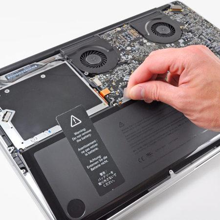 Výměna baterie macbook