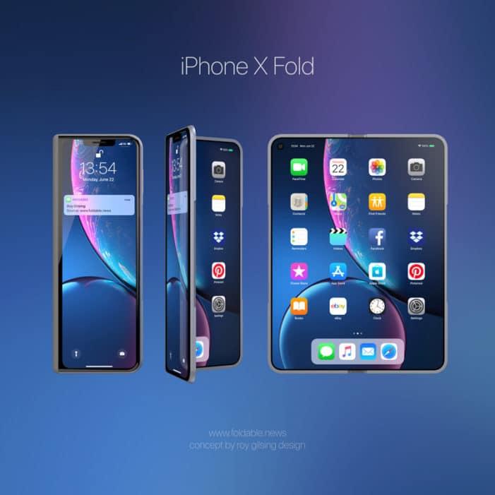 iphone x fold concept2 - Ohebný displej je budoucnost, říká spoluzakladatel Applu