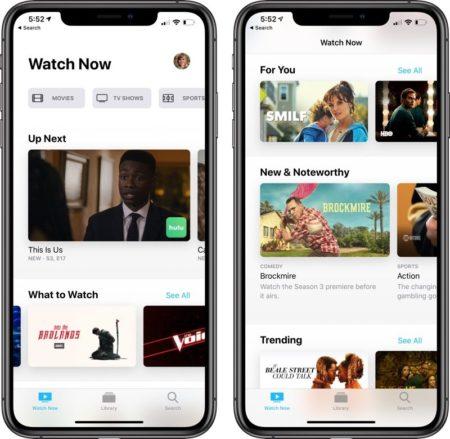 iOS 12.3, aplikace TV