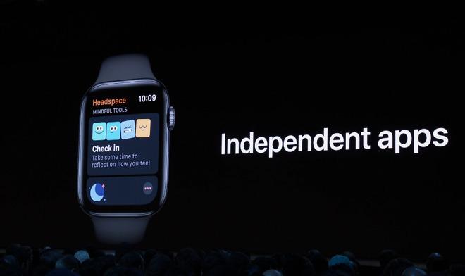 mazání aplikací v watchOS 6