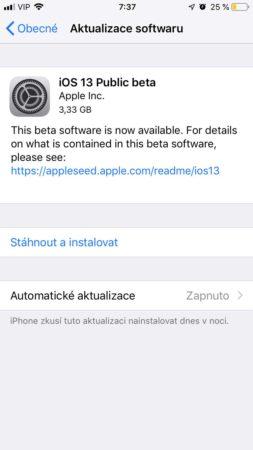 Jak nainstalovat iOS 13 veřejnou beta verzi