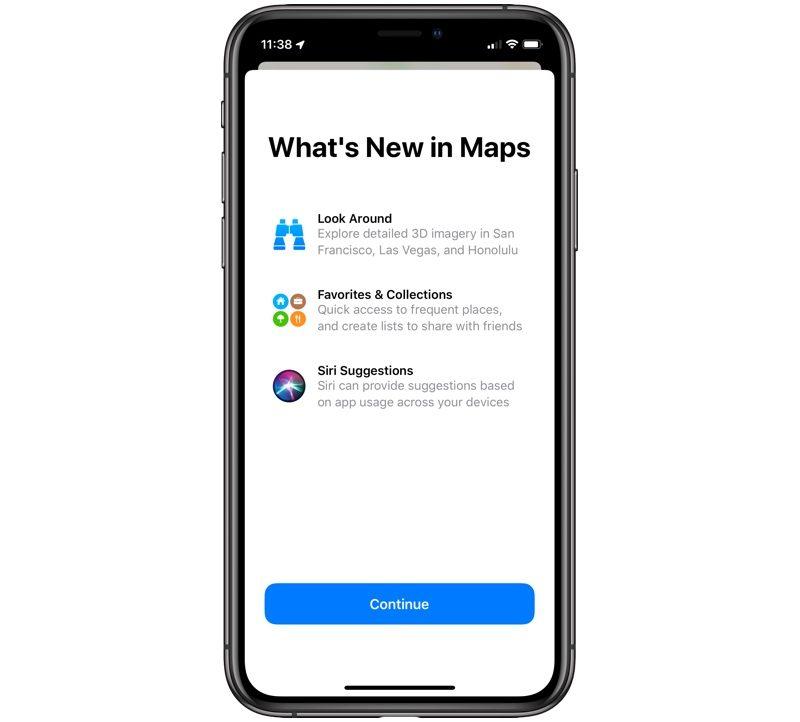 iOS 13 Mapy