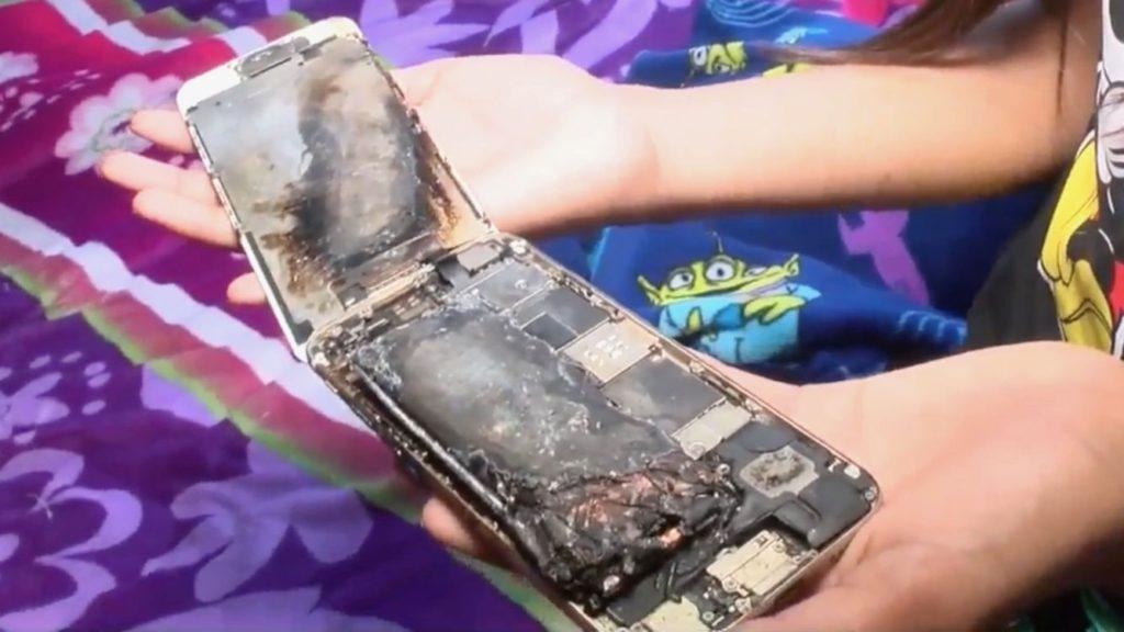 výbuch iPhone