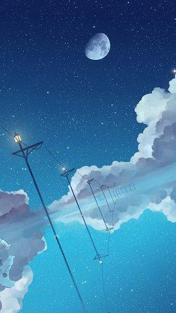 papers.co bi29 illust star moon sky night art 33 iphone6 wallpaper 250x444 - Tapety pro iPhone ke stažení (2. 7. 2019)
