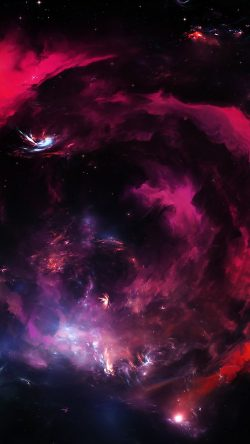 papers.co vs79 space art star galaxy red pattern dark 33 iphone6 wallpaper 250x444 - Tapety pro iPhone ke stažení (2. 7. 2019)