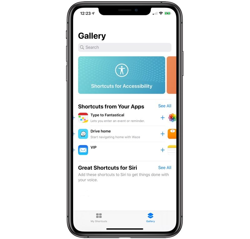 iOS 13 Beta 5 Zkratky