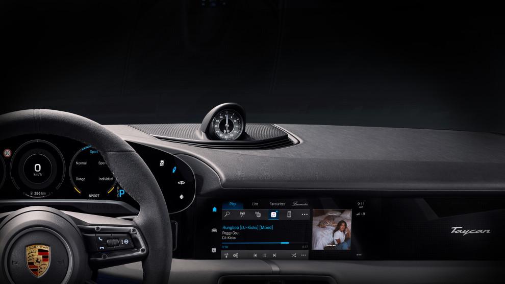 Porsche Taycan EV Apple Music