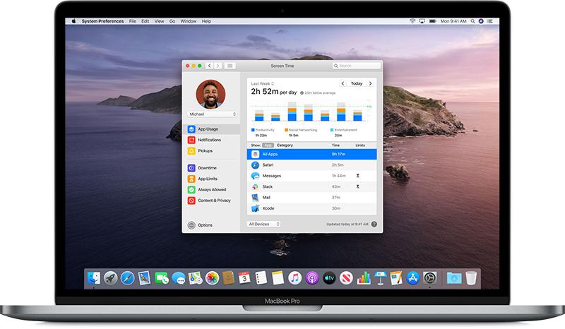 macoscatalinascreentime - Apple vydal macOS Catalina. Obsahuje nové aplikace a je bez iTunes