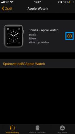 Apple Watch záloha