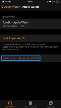Apple Watch obnova