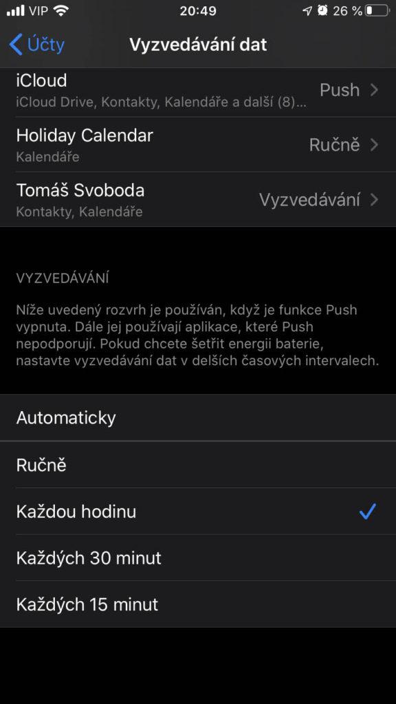 iOS 13 Mail Push