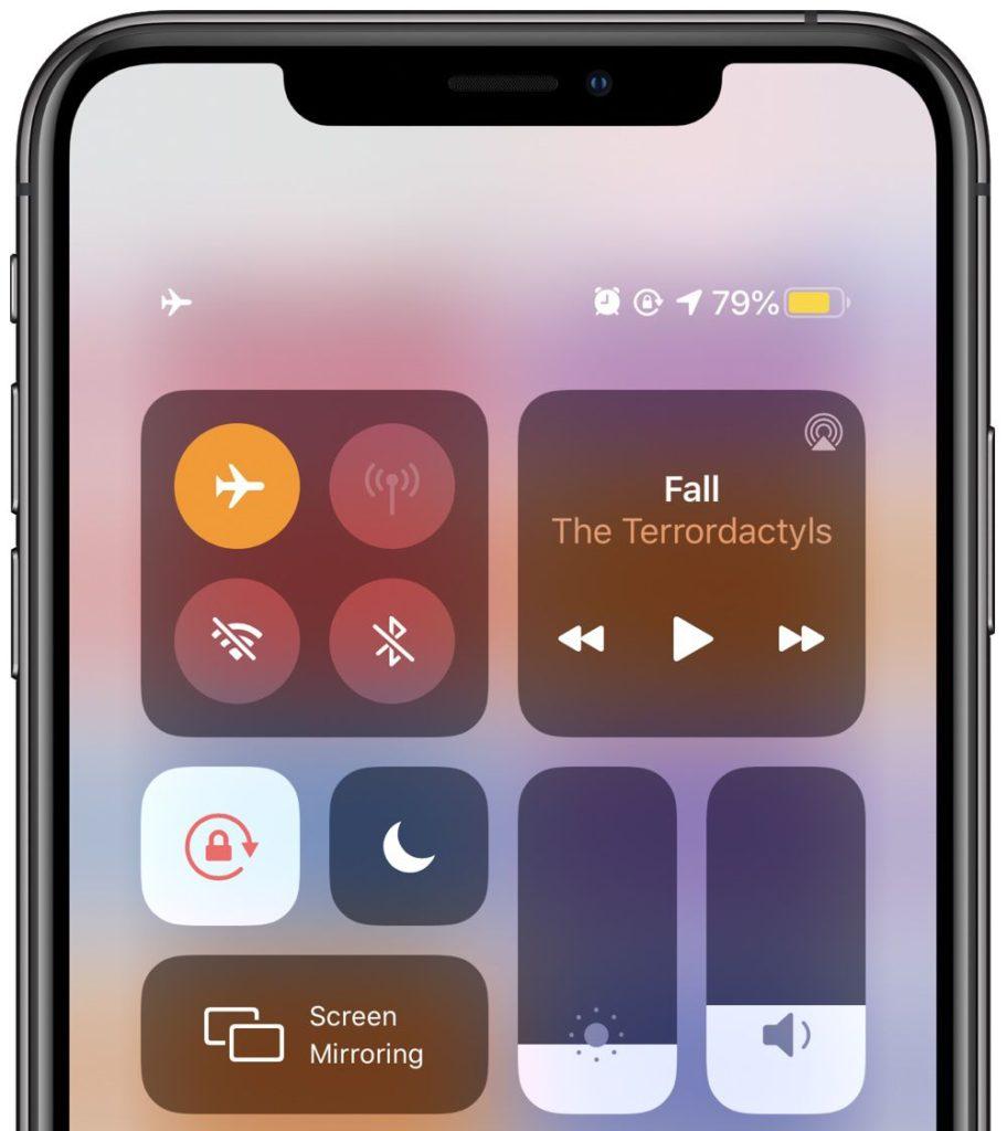 iPhone režim Letadlo
