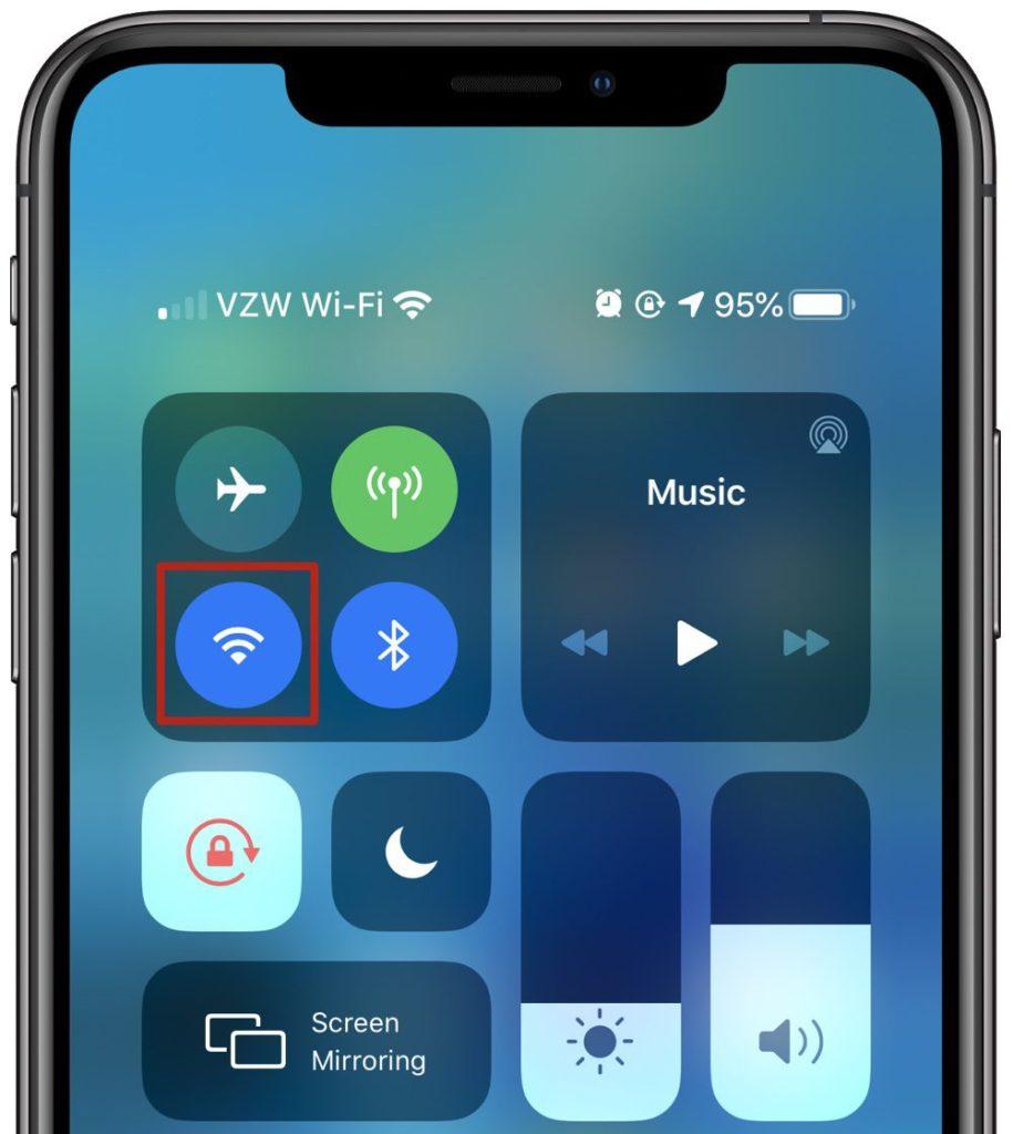 iOS 13 Wi-Fi