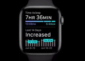 Monitoring spánku na Apple Watch