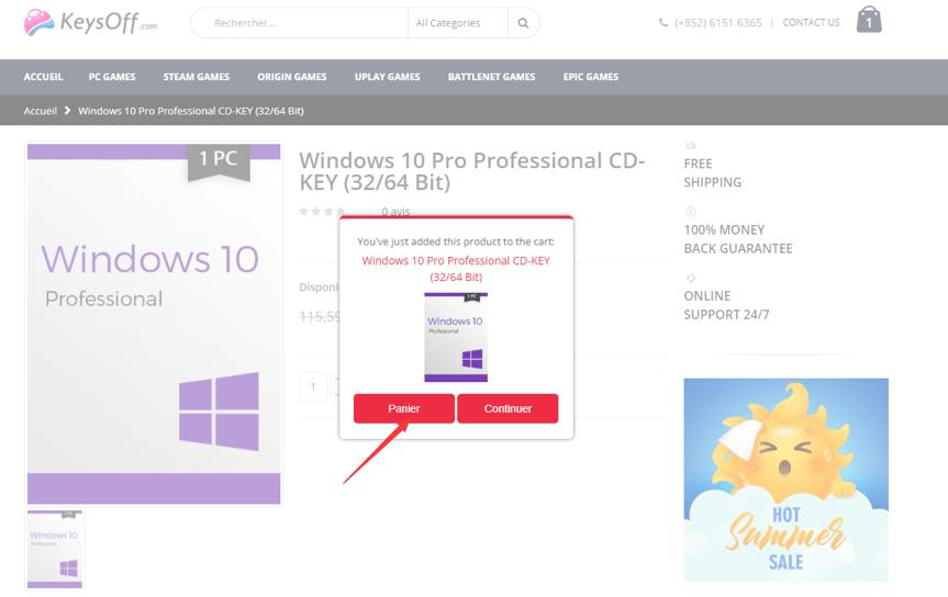 KeysOff Windows 10