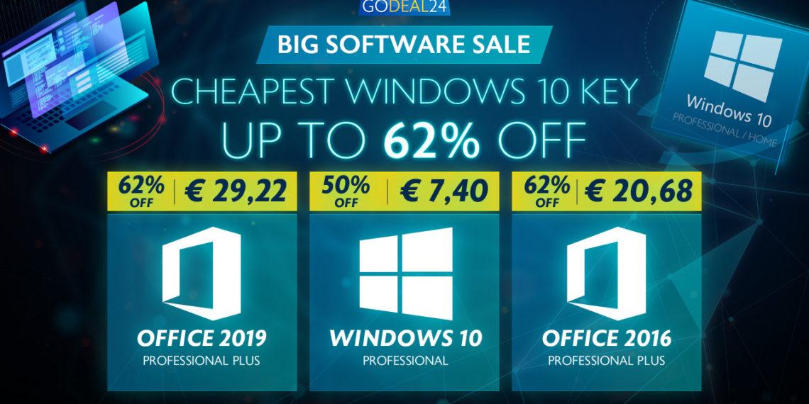 Nejlevnější Windows 10 Godeal24