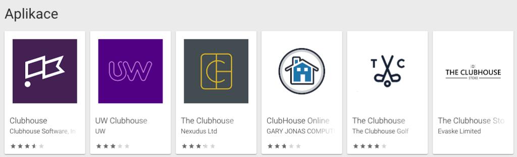 Clubhouse problémy