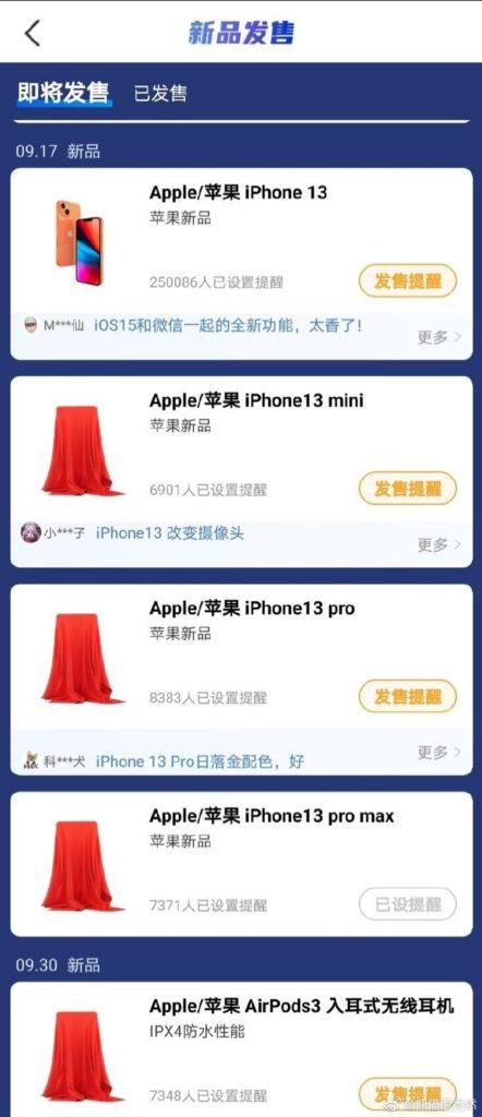 iPhone 13 datum uvedení