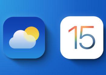 iOS 15 Počasí